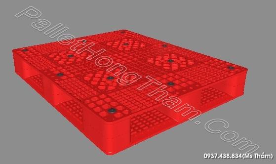 PALLET NHUA MOI MAU DO HAN GHEP 1200X1000X145 MM 3 (2)